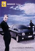 """Cartolina Renault 1 """"twingo Diabolica"""""""