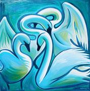 """Swans"" Acrylic 50x50cm"