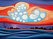 """""""Johannesburg"""" Acrylic 75x50cm"""