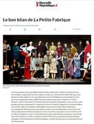 Petite Fabrique - La Nouvelle République - Décembre 2017