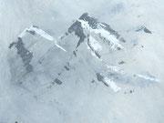 Berge im Wetter, Acryl auf Papier in 31x24 mit PT und Glasrahmen                  >>> sold