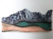 Staufen, Acryl auf Papier in kleinem Format