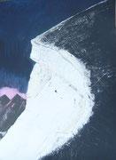 Bianco Grat, Bernina, Acryl auf Papier in 24x31