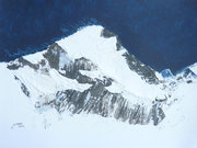 Aconcagua 6962 m Acryl on Paper        >>> für Susanne anlässlich der Gipfelbesteigung