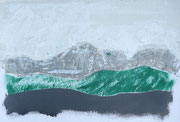 Staufen mit stilisiertem Högl, Acryl auf Papier im kleinen Format