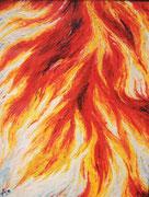 Feuer . 70 x 100 cm *
