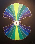 Silberperle . 80 x 100 cm