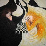 Schach . 100 x 100 cm *