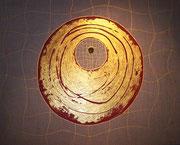 Goldenes Netz . 100 x 80 cm