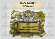 "PLAQ. POLIRES. ROMANA"" ART-N° 1054"