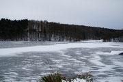 Der zugefrorene See.