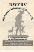Programm einer Windspieljahresausstellung unter der organisatirischen Leitung von Fr. W.Peschges.