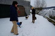 Ein kurzer Schneespaziergang.