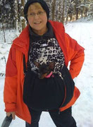 5  Wintertasche außen Baumwolle sw und innen Fellimitat sw/weiß