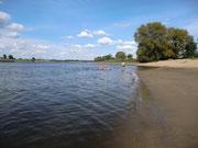 Badestrand an der Elbe