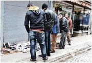 vente sur les trottoirs d'Istanbul