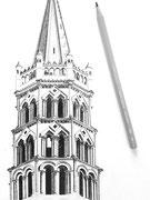 L'Atelier de Capucine - Clocher de la Basilique Saint-Sernin, Toulouse - Coulisses
