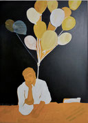 Träumer,  Acrylfarbe a. Leinwand,  70 x 50 cm,  2011