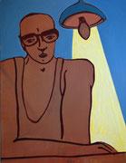 Intellektueller,  Acryl a. Leinwand,  260 x 200 cm,  2003