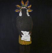 Papua,  Acrylfarbe a. Leinwand,  40 x 40 cm,  2011