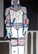 Robocop,   Acrylfarbe a. Leinwand,  210 x 150 cm,  2007