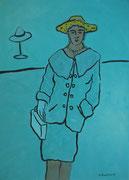 Lady,  Acryl a. Leinwand,  180 x 129 cm,  2005