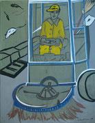 Strassenkehrer,  Acryl a. Leinwand,  260 x 200 cm,  2002