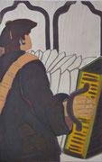 Glaube,   Acrylfarbe a. Leinwand,  210 x 150 cm,  2008