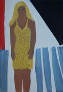Girlie,  Acryl a. Leinwand,  188 x 129 cm,  2005