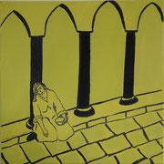 Streetview I,   Acrylfarbe a. Leinwand,  40 x 40 cm,  2011