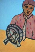 Philosoph,  Acryl a. Leinwand,  210x 145 cm,  2004