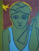 kleiner Krieger,  Acryl a. Leinwand,  260 x 200 cm,  2003