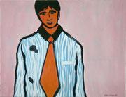 Brooker,  Acrylfarbe a. Leinwand,  85 x 110 cm,  2008