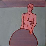 Sisyphus (3- teilig),  Acrylfarbe a. Leinwand,  40 x 40 cm, 2011