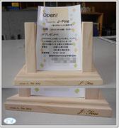 記念のハガキフライヤースタンド 2014-11-05
