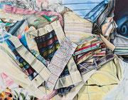 DISCARDED PATTERNS 2020 Acry auf Leinwand 70 x 90 cm