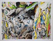 SACKCLOTH AND ASHES 2018 Acryl auf Leinwand 70 x 90 cm
