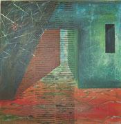 Haus des Architekten / verwoben / Collage / 50 x 50
