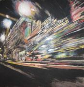 Stadtflucht / Acryl auf Vlies / 150 x 150