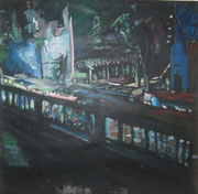 Nachtleben / Acryl auf Vlies / 150 x 150