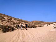 Durch die Wüstenlandschaft