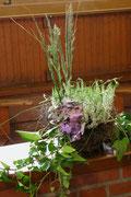 Blumenschmuck im Schießstand