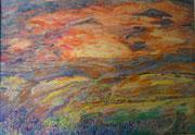 Sonnenuntergang, Blick nach Westen (1944)