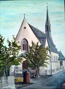 Die Pfarrkirche (gemalt 1999)