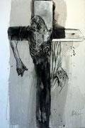 José Rodrigues: Christus 1999, Acryl auf Leinwand, 150 x 100 cm