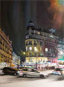 """""""Intersection  III""""- acrylique sur toile (116x89 cm), Sylvie Lavenac Bouliet"""