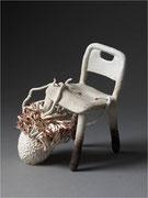 """""""Calmar invisible-chaise"""", Série Les mangeurs de chaises, céramique- CAPRI"""