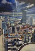 """""""Orage""""- acrylique sur toile (130x89 cm), Sylvie Lavenac Bouliet"""