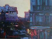"""""""De ma fenêtre""""- acrylique sur toile (18x24 cm), Sylvie Lavenac Bouliet"""