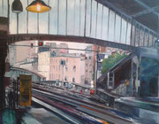 """""""Ligne 6"""" - acrylique sur toile- (73x92 cm) de Sylvie Lavenac Bouliet"""